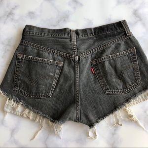 LF Furst of a Kind Levi's Cut Off  Denim Shorts